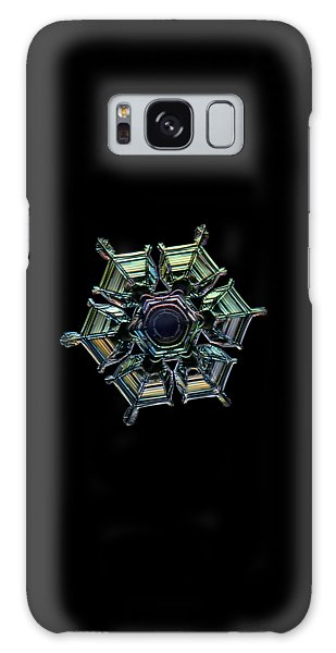 Galaxy Case featuring the photograph Ice Relief, Black Version by Alexey Kljatov
