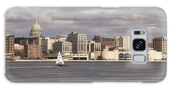 Ice Sailing - Lake Monona - Madison - Wisconsin Galaxy Case by Steven Ralser