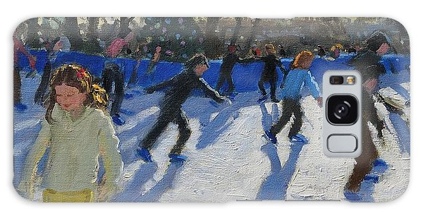 Ice Skaters At Christmas Fayre In Hyde Park  London Galaxy Case