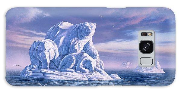 Seagulls Galaxy Case - Icebeargs by Jerry LoFaro