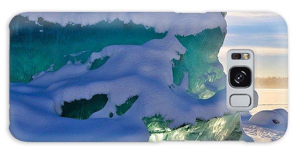 Iceberg's Glow - Mendenhall Glacier Galaxy Case by Cathy Mahnke