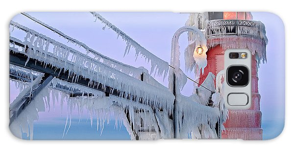 Catwalk Galaxy S8 Case - Iced South Haven Lighthouse by Dean Pennala