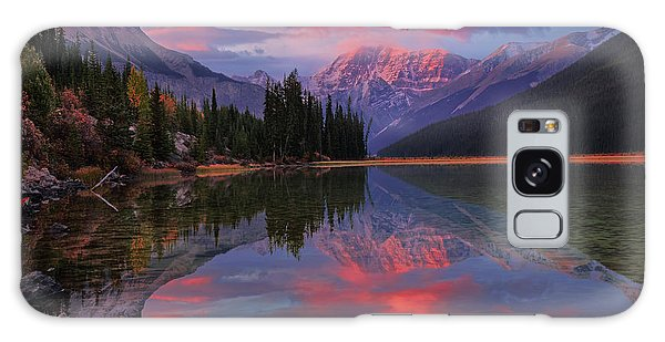 Icefields Parkway Autumn Morning Galaxy Case