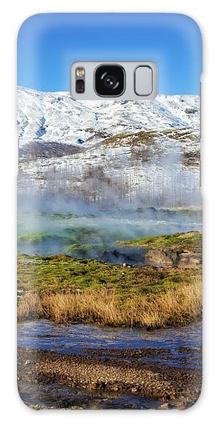 Iceland Landscape Geothermal Area Haukadalur Galaxy Case by Matthias Hauser