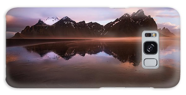 Iceland Sunset Reflections Galaxy Case