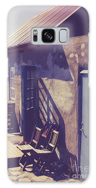 Galaxy Case featuring the photograph Icelandic Cafe by Edward Fielding