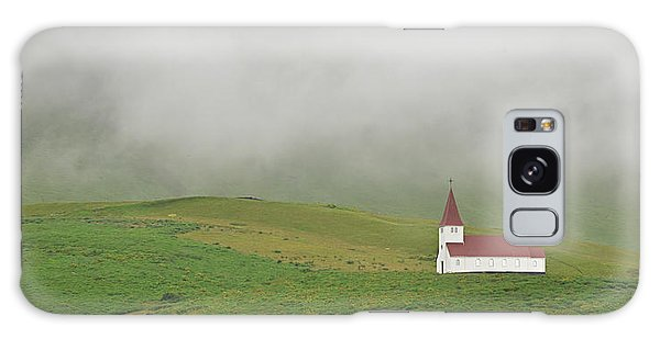 Icelandic Chapel Galaxy Case by Joe Bonita