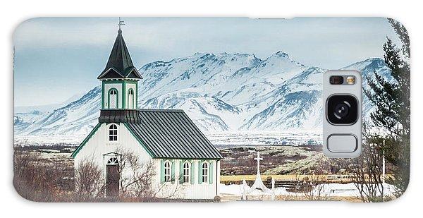 Icelandic Church, Thingvellir Galaxy Case