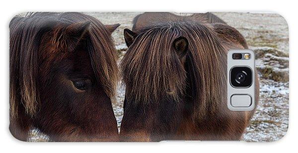 Icelandic Horses Couple Galaxy Case