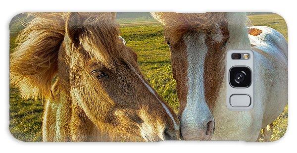 Icelandic Horses Galaxy Case