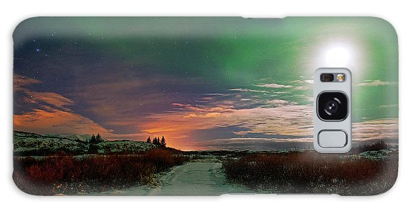 Galaxy Case featuring the photograph Iceland's Landscape At Night by Dubi Roman