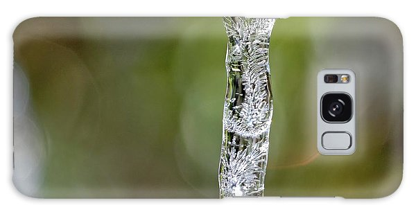Icicle On Gardenia Leaf Galaxy Case
