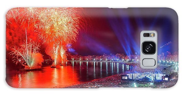 Iconic And Breath-taking Fireworks Display On Copacabana Beach,  Galaxy Case