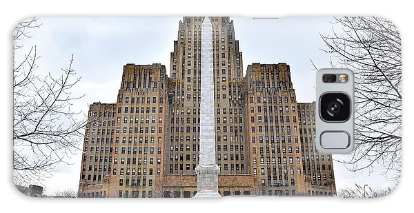 Iconic Buffalo City Hall In Winter Galaxy Case