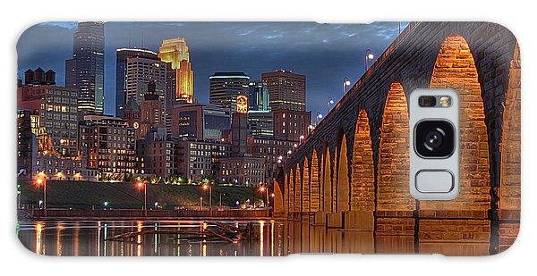 Iconic Minneapolis Stone Arch Bridge Galaxy Case
