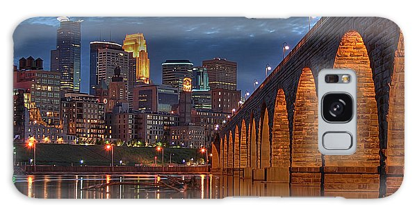 Iconic Minneapolis Stone Arch Bridge Galaxy Case