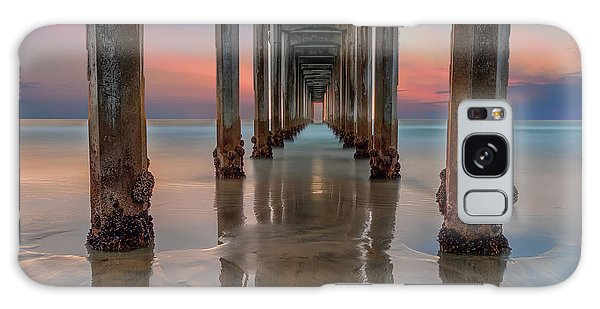 Long Exposure Galaxy Case - Iconic Scripps Pier by Larry Marshall