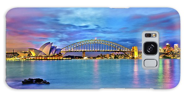 Colours Galaxy Case - Icons Of Sydney Harbour by Az Jackson