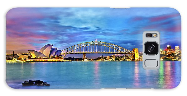 Sydney Skyline Galaxy Case - Icons Of Sydney Harbour by Az Jackson