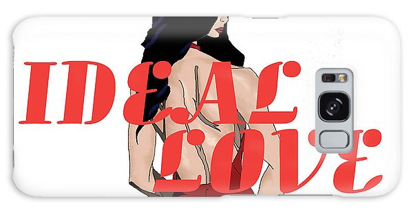 Galaxy Case featuring the digital art Ideal Love Cover by Jayvon Thomas