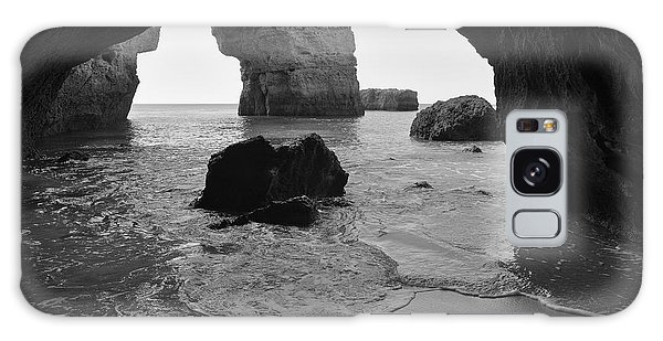 Idyllic Cave In Monochrome Galaxy Case by Angelo DeVal