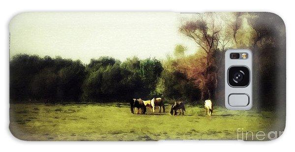 Idyllic Horse Scene Galaxy Case