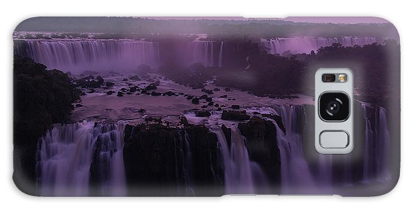 Iguazu Sunset In Violet Galaxy Case
