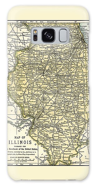 Illinois Antique Map 1891 Galaxy Case