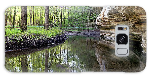 Illinois Canyon In Spring Starved Rock State Park Galaxy Case
