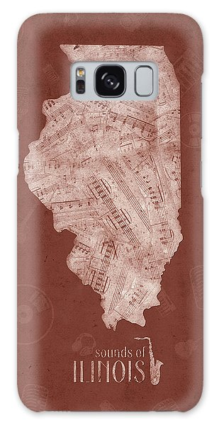 Illinois Map Music Notes 5 Galaxy Case