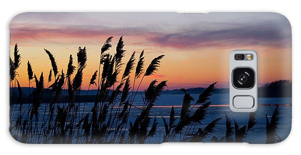 Illinois River Winter Sunset  Galaxy Case
