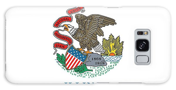 Illinois State Flag Galaxy Case