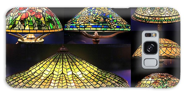 Illuminated Tiffany Lamps - A Collage Galaxy Case