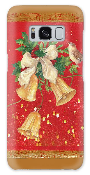 Illustrated Holly, Bells With Birdie Galaxy Case