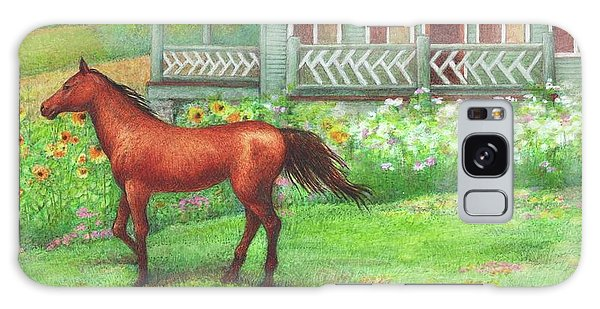 Illustrated Horse Summer Garden Galaxy Case