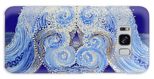 Galaxy Case featuring the painting I'm A Drop In The Blue Wave. Join Me by Kym Nicolas
