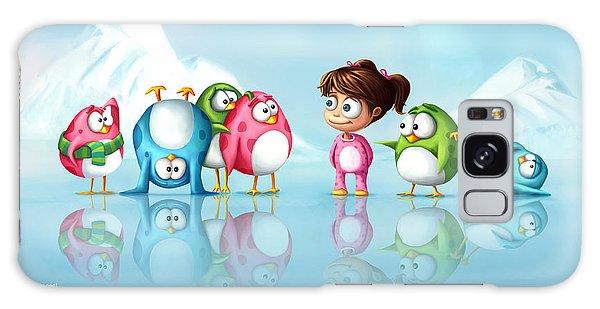 Im A Penguin Too Galaxy Case by Tooshtoosh