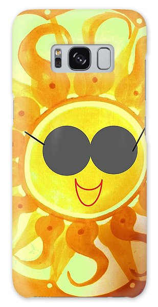 Galaxy Case featuring the painting I'm Too Hot For My Shades by Denise Fulmer