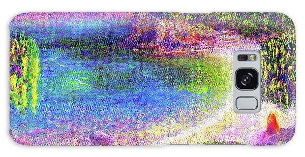 Imagine, Meditating In Beautiful Bay,seascape Galaxy Case