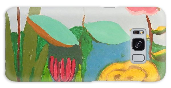 Galaxy Case featuring the painting Imagined Flowers One by Rod Ismay
