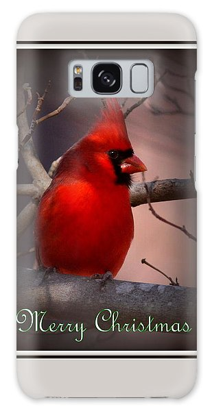 Img_3158-005 - Northern Cardinal Christmas Card Galaxy Case