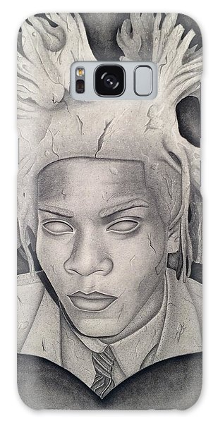 Immortalizing In Stone Jean Michel Basquiat Drawing Galaxy Case