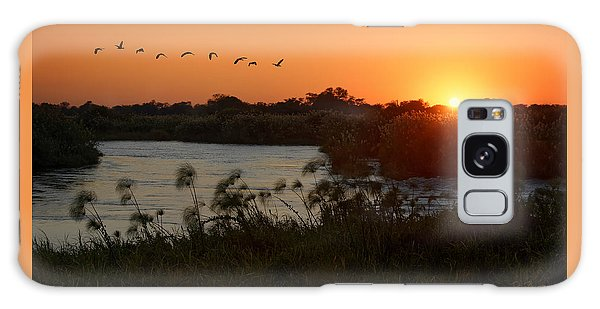 Impalila Island Sunrise Galaxy Case by Joe Bonita