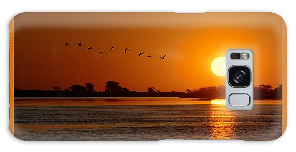 Impalila Island Sunset No. 1 Galaxy Case by Joe Bonita