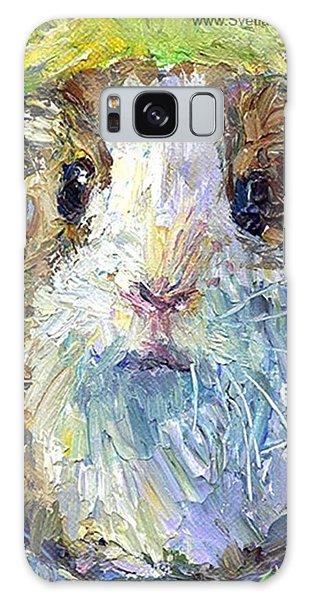 Colorful Galaxy Case - Impasto Impressionistic  Guinea Pig Art by Svetlana Novikova
