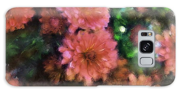 Bronze And Pink Mums Galaxy Case