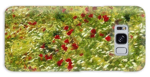 Impressionist Poppies Galaxy Case