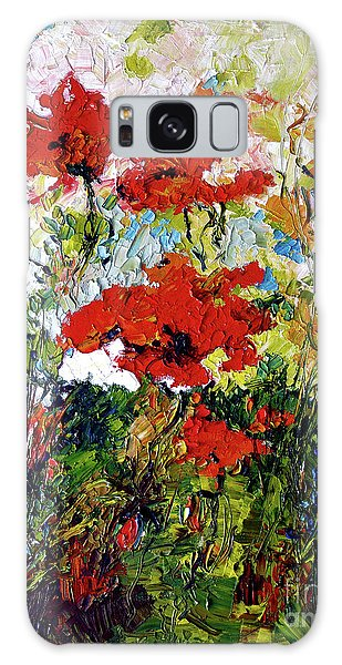 Impressionist Red Poppies Provencale Galaxy Case by Ginette Callaway