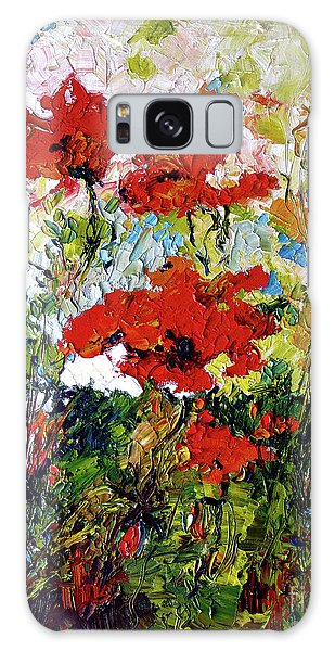 Impressionist Red Poppies Provencale Galaxy Case