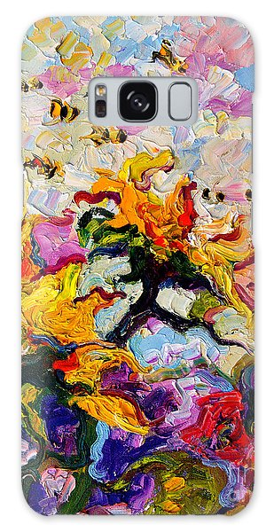 Impressionist Sunflowers And Bees Galaxy Case by Ginette Callaway